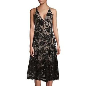 Dress The Population Fit-&-Flare Sequined Lace